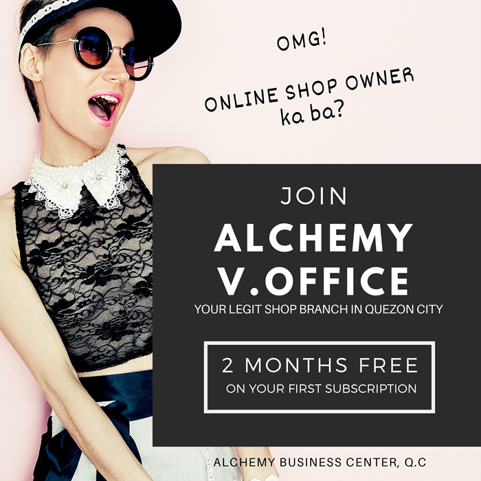 Online shop owner gets free VIRTUAL OFFICE QC Alchemy Business Center